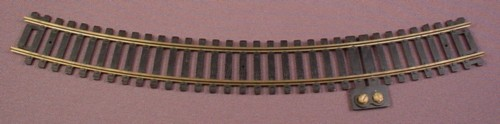 """Ho Scale Gauge Casadio Brass 18"""" Radius Track With Terminals, Made In Italy, Railroad"""
