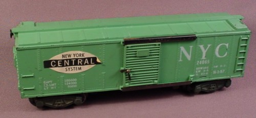 S Scale Gauge Vintage Gilbert American Flyer New York Central Box Car, Nyc 24065