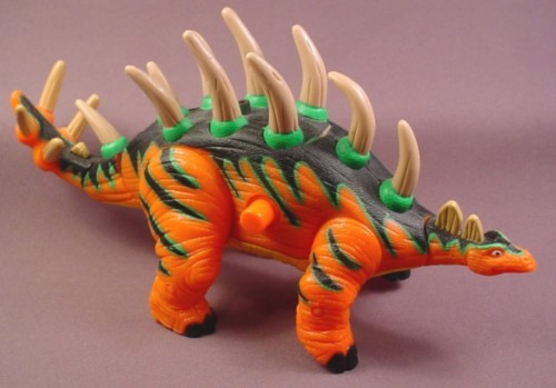Fisher Price Imaginext Crunch The Kentrosaurus Dinosaur, Tail Head & Legs Are Jointed