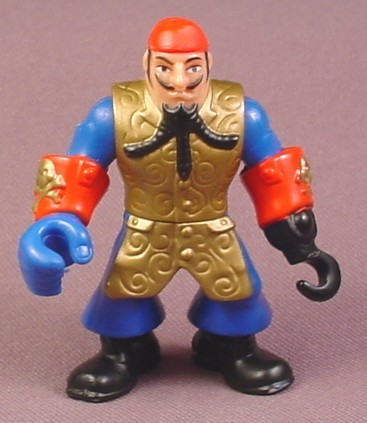 Fisher Price Imaginext Pirate Captain Figure With Braided Beard, Hook Hand, L1284 3239