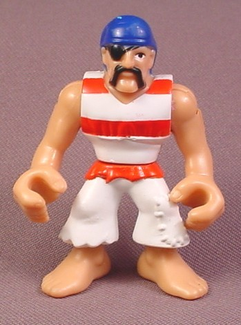 Fisher Price Imaginext Pirate Figure With White & Red Striped Shirt, L1284 3239
