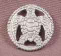 Fisher Price Imaginext Gray Turtle Coin With Hex Clip On The Back, L1284 3239