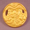 Fisher Price Imaginext Gold Pirate Face Coin With Hex Clip On The Back, L1284 3239
