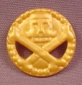 Fisher Price Imaginext Gold Skull & Crossbones Coin Hex Clip On The Back L1284 3239