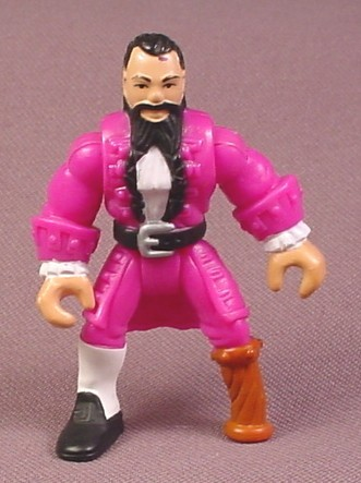 Fisher Price Imaginext Pirate Captain Figure With Purple Clothes, Wooden Leg, B1472