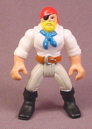Fisher Price Imaginext Pirate Figure, White Shirt, Blue Scarf, Red Hat, B1472
