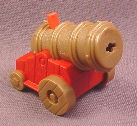 Fisher Price Imaginext Gold Cannon On Red Rack, B1472 Pirate Raider Ship
