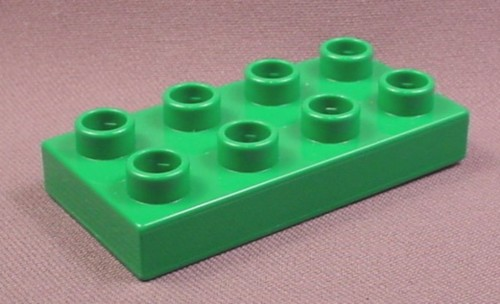 Lego Duplo 40666 Green 2X4 Plate, Zoo, Pirates, Thomas The Tank Engine, Castle