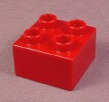 Lego Duplo 3437 Dark Red 2X2 Brick, Trains, Zoo, Thomas The Tank Engine, Little Robots