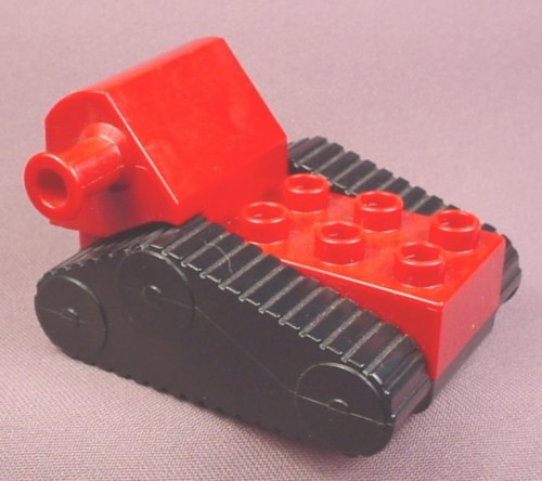Lego Duplo 52067 Dark Red Caterpillar Vehicle Base With Tracks & Arm Connection, 3293