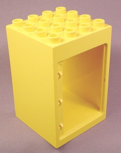 Lego Duplo 6360 Yellow 4X4X5 Square Building With Door Frame, Western Cowboys