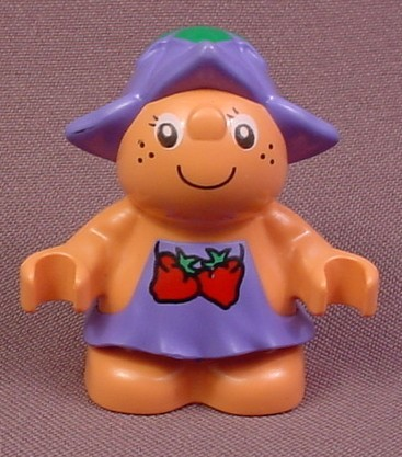 Lego Duplo 31232 Forest Friend Female Figure, Purple Dress With 2 Strawberries Pattern