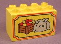Lego Duplo 31111 2X4 Brick With 3 Sacks & Apple Crate Pattern, 2435 9185, Western