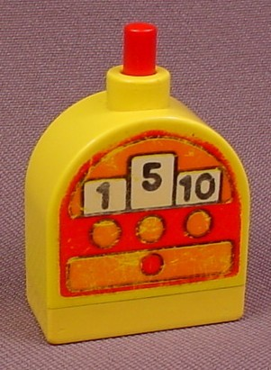 Lego Duplo X836Cx2 Rounded Yellow Brick With Cash Register & Bell That Chimes
