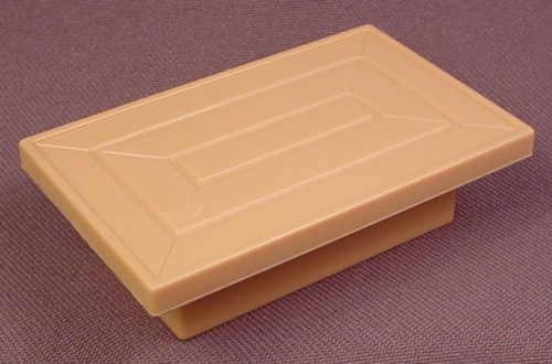 Playmobil Tan Or Light Brown Low Rectangular Table, 7/8 Inches Tall, 1 3/4 Inches By 2 3/4 Inches