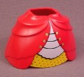 Playmobil Dark Pink 2 Piece Hoop Skirt Dress With Yellow Trim And A Hole In The Back For A Bow
