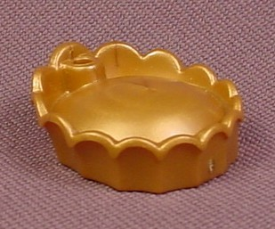 Playmobil Gold Crown Or Hat With Turned Up Scalloped Brim That Is Higher In The Back, Has A Hole