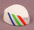 Playmobil White Adult Size Paper Hat With Blue Green & Red Stripes, 3202 3204