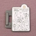 Playmobil Dark Gray Clipboard With Map Sticker, 3041 3079 3126 3136 3169 3318 4098 4135