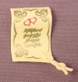 Playmobil Pale Yellow Unrolled Scroll With Wedding Vows, 4258