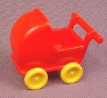 Playmobil Red Doll Carriage With Yellow Wheels, 4145 5328 5763