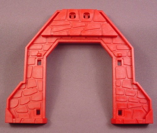 Playmobil Dark Red Triangular Roof Support Wall With Door Opening