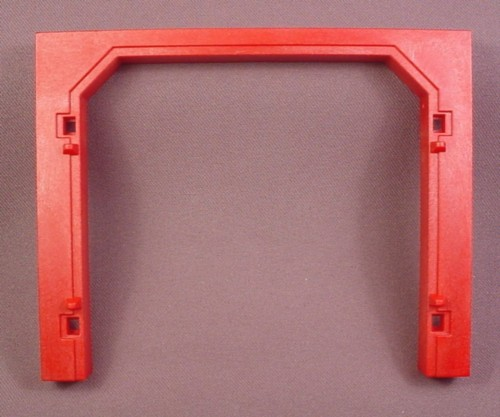 Playmobil Dark Red Roof Support Beam Wall Double Door Opening