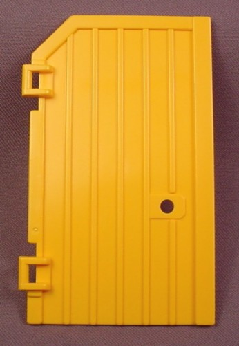 Playmobil Yellow Orange Left Side Barn Door With Hole For Catch