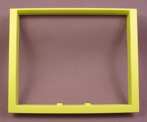 Playmobil Lime Green Yellow Double Width Tall Window Frame