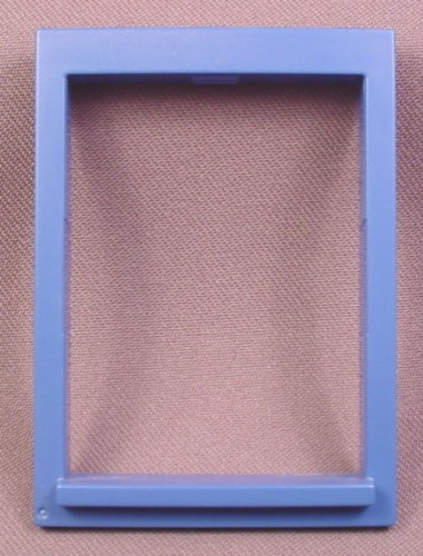 Playmobil Dark Blue Window Frame & Ledge For 2 1/8 By 3 Opening