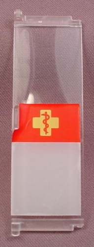Playmobil Clear Door With A Medical Symbol Sticker, Connects To Others To Form A Folding Door
