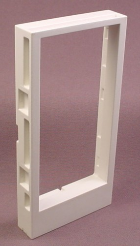 """Playmobil White Wall With 1 15/16"""" By 3 7/8"""" Doorway Opening"""