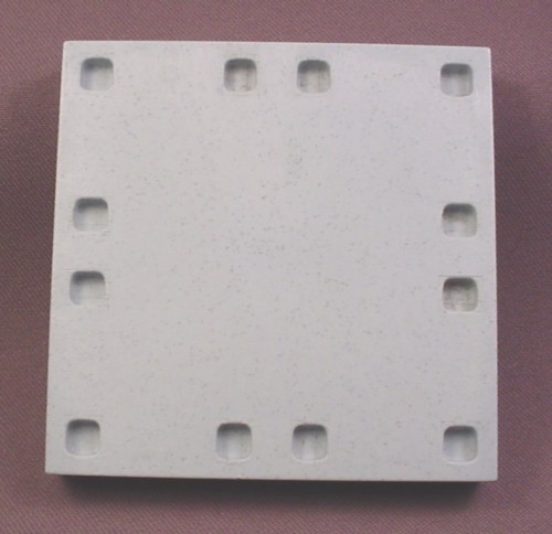 Playmobil Light Gray Floor Base Plate, 3 1/2 Inches Square, System X, Baseplate, 3230 4055 4072 4190