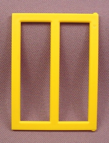 Playmobil Yellow Window With 2 Vertical Panes, 2 Hinge Points, 2 5/8 Inches Tall, 3085 3159 3165