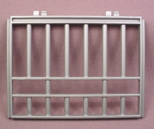 Playmobil Silver Gray Short End Cage Wall, 4175, 30 51 4710
