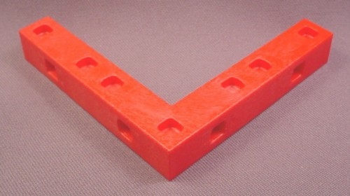 "Playmobil Red Corner Connecting Strip, System X, 3 1/2"", 3130 3200"