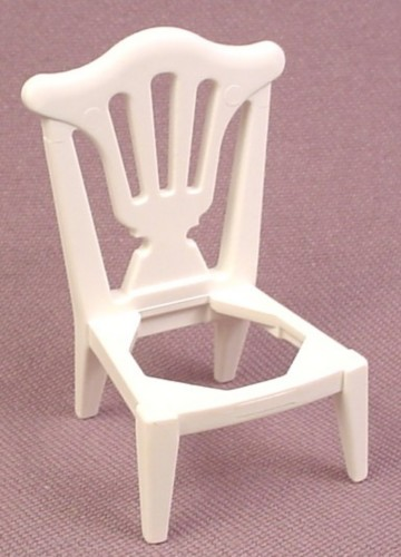 Playmobil White Chair With Ornate Cutout Pattern In Back