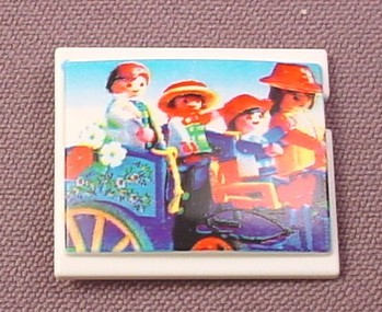 Playmobil White Tv Television Or Computer Monitor Screen, 3230