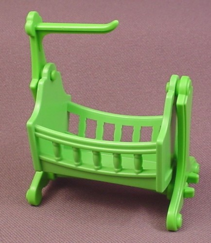Playmobil Green Victorian Swinging Cradle With Legs, Base & Arm
