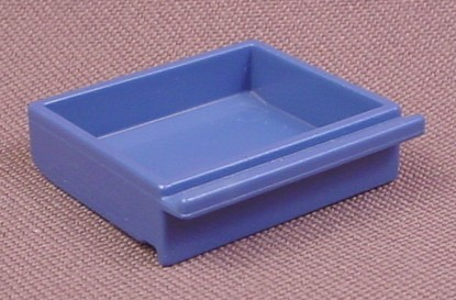 Playmobil Blue Shallow Drawer With A Straight Pull Handle, 3130 3159 3165 3175A 3175B 3988 4410 5718