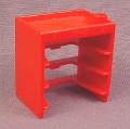 Playmobil Red Cabinet Or Tool Chest With Slots For 3 Sliding Drawers