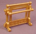 Playmobil Gold Upright Towel Rack With 2 Bars. 3031 4252