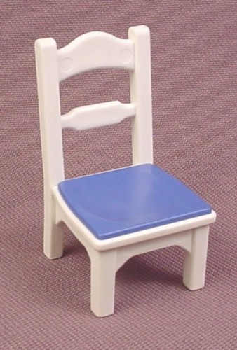 Playmobil White Kitchen Chair With Blue Seat Cushion, 4145 5120
