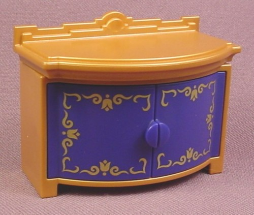 Playmobil Gold & Blue Cabinet With Arched Or Rounded Front