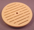 Playmobil Tan Or Beige Round Patio Table Top With Slats, 3230