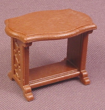 Playmobil Brown Small Table With Curved Top & Ornate Uprights