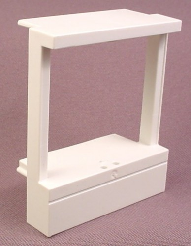 Playmobil White Frame For Safe In Wall Unit, Slides Into Shelf Slots