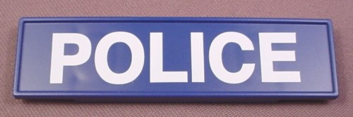 Playmobil Blue Police Sign, 3 1/2 Inches Wide, 3605 3954, 30 63 5400
