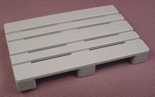 Playmobil Gray Wood Slat Shipping Pallet, 3 1/2 Inches Long, Grey, 4480, 30 25 0820