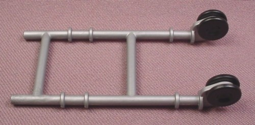 Playmobil Silver Gray Garden Wagon Frame With Rolling Wheels, 3 Inches Tall, 4480 4481, 30 25 0650